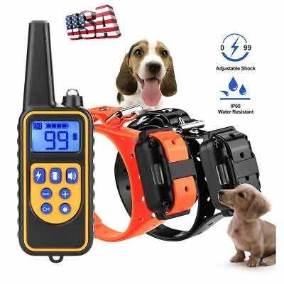 New 800m Electric Dog Training Collar Pet Remote Control Waterproof Rechargeable