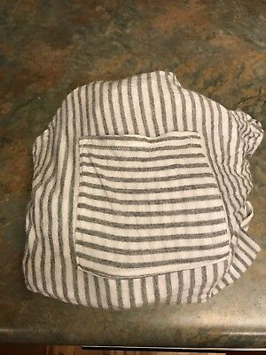 Solly Baby Wrap Grey And Natural Stripe EUC