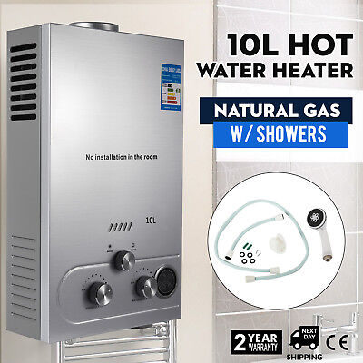 10L Natural Gas Hot Water Heater Auto-Protection Modern Automatic Ignition
