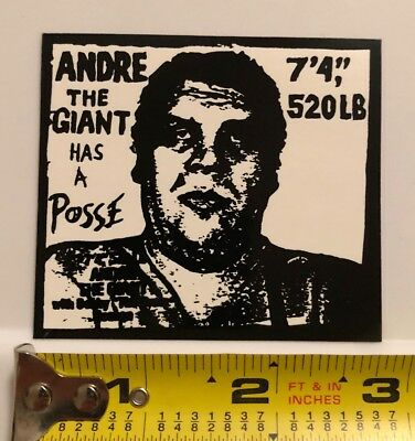 "OBEY Shepard Fairey ""ANDRE THE GIANT HAS A POSSE"" sticker 3"" x 2.75"" RARE OOP"