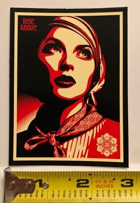 "OBEY Giant Shepard Fairey ""Rise Above"" Limited Edition Sticker"