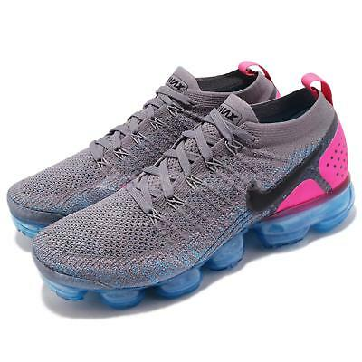 separation shoes 72b64 4b757 Nike Air Vapormax Flyknit 2 II Gunsmoke Pink Blue Men Running Shoes 942842- 004