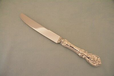 "Reed & Barton Francis I 9-5/8"" New French Blade HH Dinner Knife Sterling No Mono"