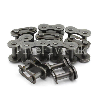"10 PCS 16A-1 Chain Connector 25.4mm Pitch for 1""  #80 Roller sprocket Chain"