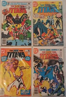 THE NEW TEEN TITANS #1-34 Annuals KEY Iss. DEATHSTROKE ALL NM/NM+ (1-4 SIGNED)