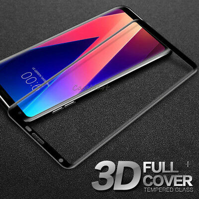 For LG V30 Full Cover Screen Protector 3D Curved 9H Tempered Glass Film