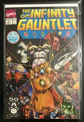 Infinity Gauntlet & War #1s Readers' Lot -Thanos! + FREE TOY - .99 Cent Auction!