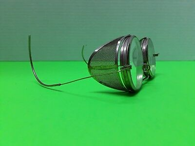 Vintage Round Safety Glasses W/ Mesh Side Panels & Spring Ear Pieces