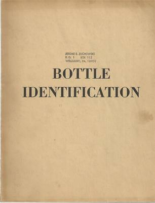 Bottle identification, by H. E. Putnam / 1965 / Illustrated (B&W) w/ Price Guide