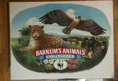 Barnum's Animals Endangered Collection Crackers WWF Nabisco Retail Signage