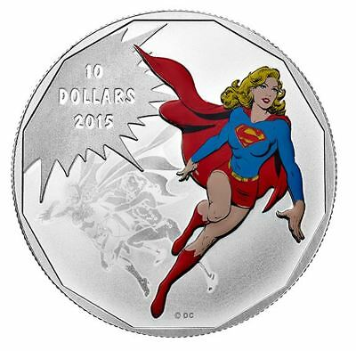 2015 $10 DC Comics Originals - Unity (Supergirl) 1/2oz .9999 Silver Coin - RCM