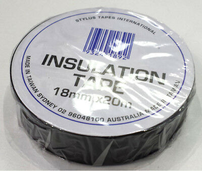 Electrical Pvc Insulation Tape - Black Colour - 18Mm Wide X 20M Roll
