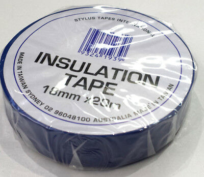 Electrical Pvc Insulation Tape - Blue Colour - 18Mm Wide X 20M Roll