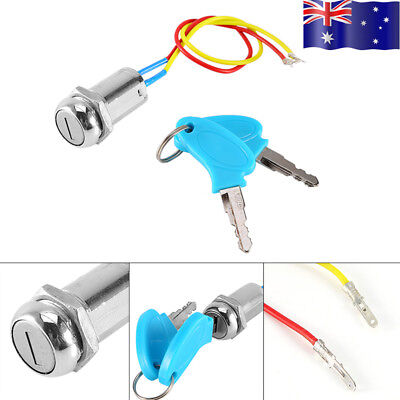 New 2 Wire Ignition Key Switch Lock For Scooter ATV Moped Go Kart Mini Moto Bike