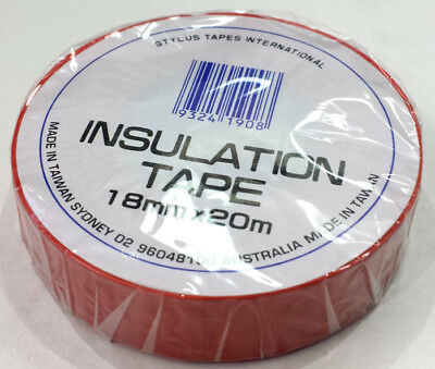 Electrical Pvc Insulation Tape - Red Colour - 18Mm Wide X 20M Roll