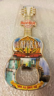 Hard Rock Cafe GURUGRAM Bottle Opener Magnet,HTF