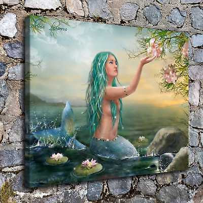 "16""x20"" Mermaid Sea HD Canvas Prints Painting Home Decor Picture Wall Art Poster"