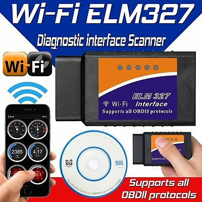 WiFi ELM327 OBD 2 OBDII Auto Diagnose Interface Scanner Android iOS iPhone Gene