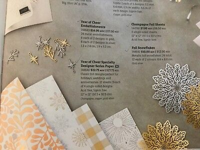 Stampin Up DSP (Designer Series Paper) Year Of Cheer