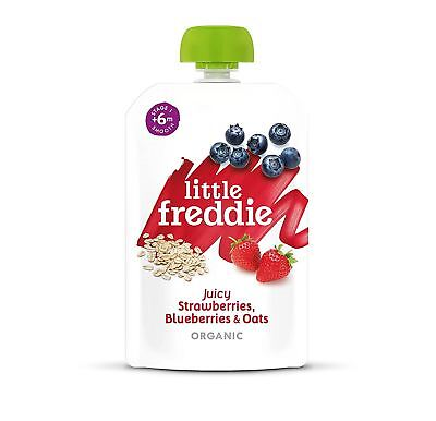 Little Freddie Strawberries Blueberries & Oats 100g (Pack of 6)
