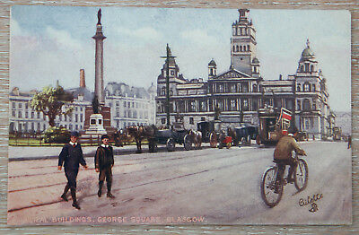 Vintage - Tucks Oilette Post Card - MUNICIPLE BUILDINGS - GLASGOW - No. 7578
