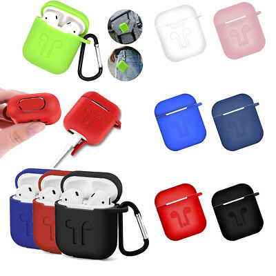 Silicone Shock Proof Protective Skin Case Cover For Apple AirPods Earphone