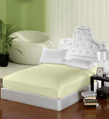 Egyptian Cotton Fitted Sheet 300tc Queen Double Single 40cm deep percale
