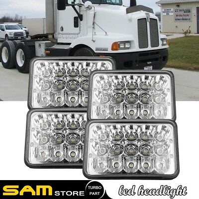 "4X6"" inch LED Light Bulbs Hi/Lo Sealed Beam Headlamp Headlight Kenworth Truck 4P"