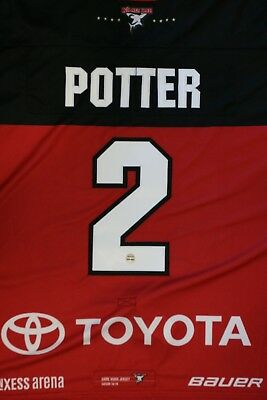 Kölner Haie Trikot 18/19 Pre Season THIRD, #2 POTTER Game-Worn Jersey  Gr. XL