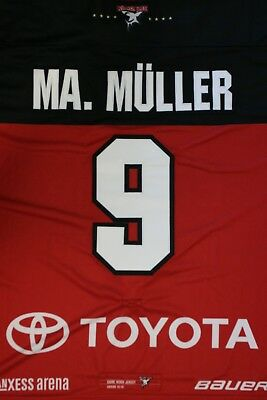 Kölner Haie Trikot 18/19 Pre Season THIRD, #9 MA. MÜLLER Game-Issued Gr. XL