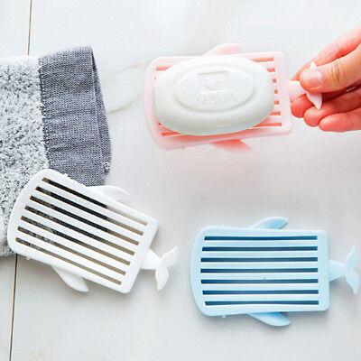 Whale Draining Soap Box Bathroom Dish Plastic Holder Container Accessories New