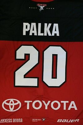 Kölner Haie Trikot 18/19 Pre Season THIRD, #20 PALKA Game-Issued Gr. L