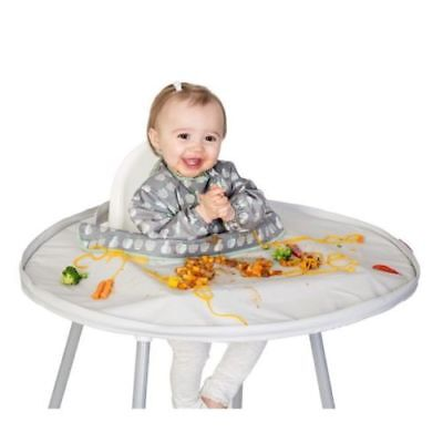 Tidy Tot Baby/Toddler Highchair Bib And Tray Kit Dove Grey Includes Travel Bag