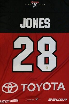 Kölner Haie Trikot 18/19 Pre Season THIRD, #28 JONES Game-Worn Gr. L