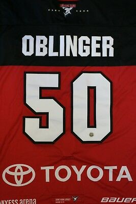 Kölner Haie Trikot 18/19 Pre Season THIRD, #50 OBLINGER Game-Worn Gr. XL