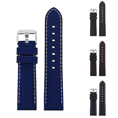 KE_ Soft Silicone Watch Strap Band Buckle Watchband Replacement Wristband Deli