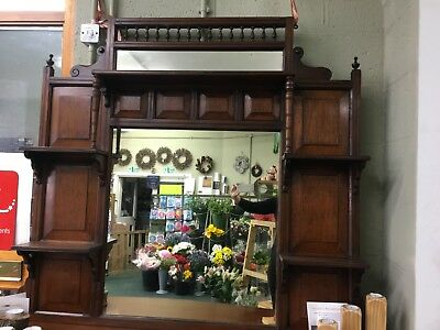 Overmantle Mirror Antique
