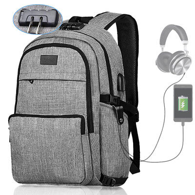 Laptop Travel Backpack for Women&Man Anti-Theft College Bookbag with Lock