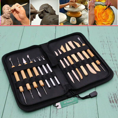 New 14pcs/Set Wax Clay Soap Carvers Modelling Carving Sculpting Pottery Tool