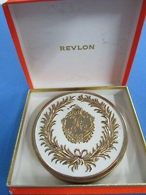 Vintage Ladies REVLON  Powder Compact  with Original Box