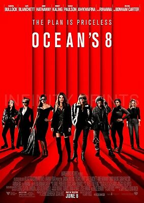 Oceans 8 Movie Film Poster A3 A4