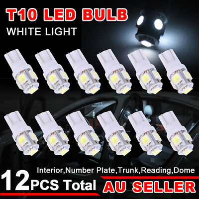 White T10 LED Car Number Plate Light 5050 SMD W5W Wedge Tail Side Parker Bulb