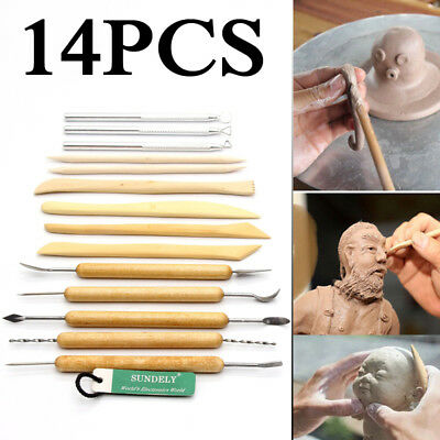14x Wood Wax Clay Soap Carvers Tool Modelling Carving Sculpting Pottery Craft AU