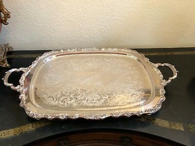 "Vintage Silver-plated ""COUNTESS"" Waiter Tray by INTERNATIONAL SILVER."