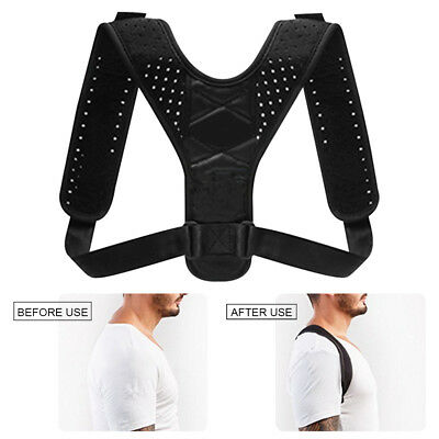 Back Shoulders Strap Brace Neck Pain Relief Clavicle Support Posture Corrector