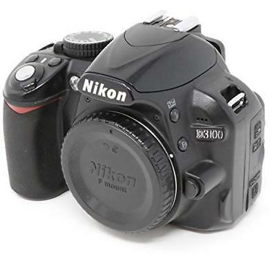 Nikon D3100 14.2MP Digital SLR Camera Black Body Great from Japan Free Shipping
