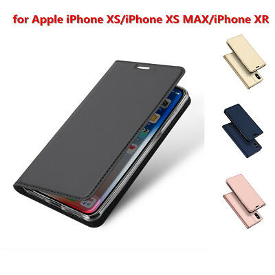 Magnetic Flip PU Leather Wallet Stand Case Cover For iPhone XS MAX/ XS/XR