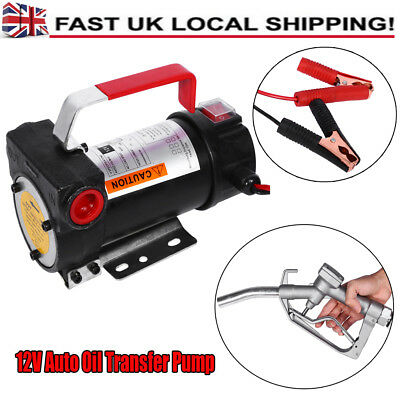 Portable DC 12V Diesel Transfer Extractor Oil Suction Pump 155W With Fuel Nozzle