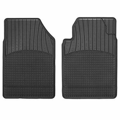 Carfashion all Weather Cupped Floormat A1, Car Floor Mats Set in Black, 2 Pcs