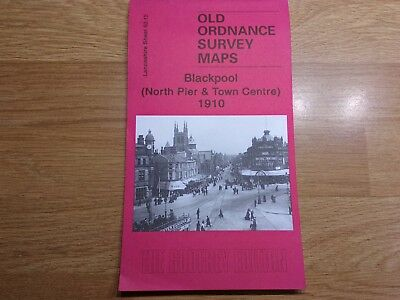 Old Ordnance Survey Maps The Godfrey Edition Blackpool North Pier&Town Cent.1910